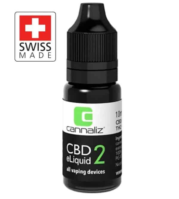 Organic CBD Vape e-Liquid 2% (200mg) – Swiss Made by Cannaliz