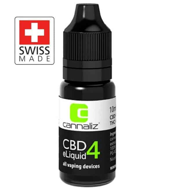 Organic CBD Vape e-Liquid 4% (400mg) – Swiss Made by Cannaliz