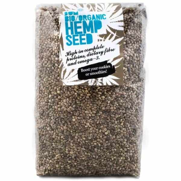 Raw Organic Whole Hemp Seeds - 1kg