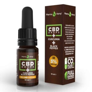 Pharmahemp CBD Drops + Curcumin and Black Pepper - 10ml - 5% (500mg)