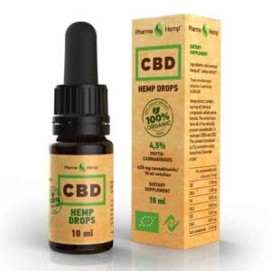 Pharmahemp Organic CBD Hemp Oil Drops - 10ml - 4.5% (450mg)