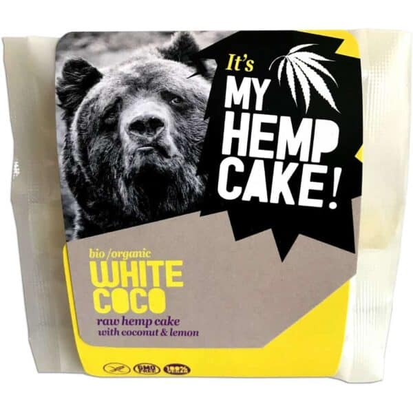 White Coco - Organic Raw Hemp Cake with Coconut and Lemon