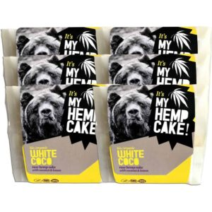 White Coco - Organic Raw Hemp Cake with Coconut and Lemon - 6 Pack