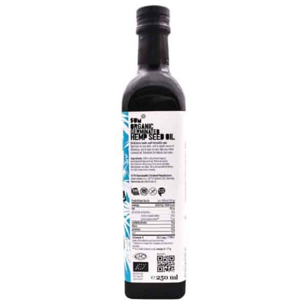 Organic Sprouted Hemp Seed Oil - 250ml