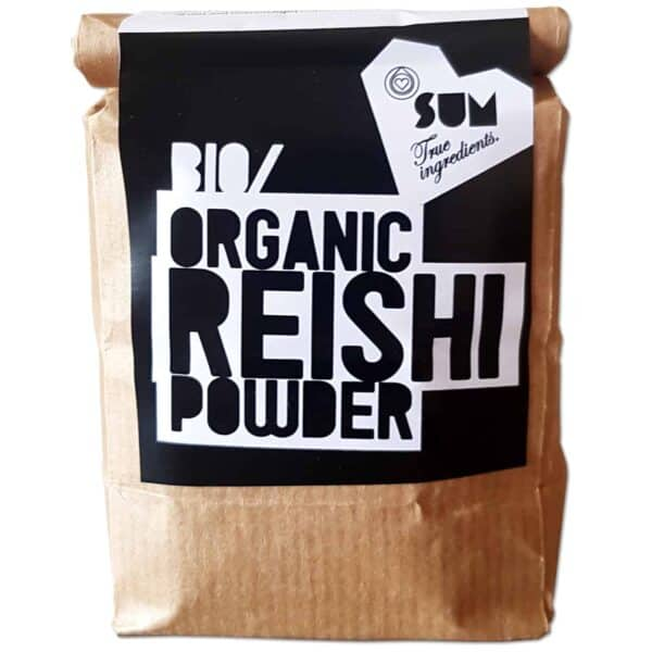 Reishi Powder in Biodegradable Packaging