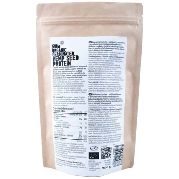 Organic Germinated Hemp Protein Powder