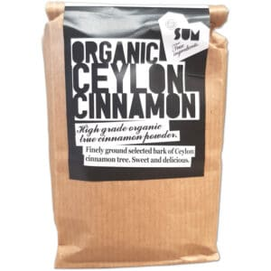 Ceylon Cinnamon, raw, organic, 200g in eco friendly biodegradable packaging.