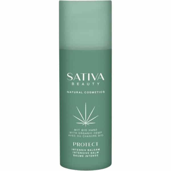 Sativa Beauty, a Medihemp natural organic hemp intensive balm - fragrance-free for irritated skin called Protect.