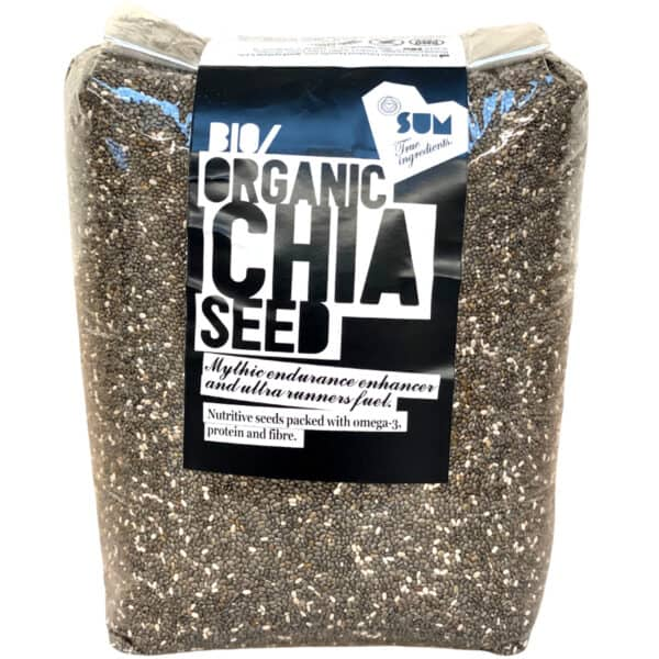Organic Chia Seeds, raw in Eco Packaging